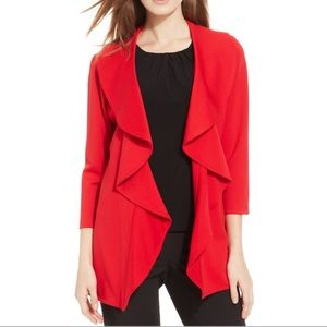 Cherry Red Drape Jacket Blazer size XS